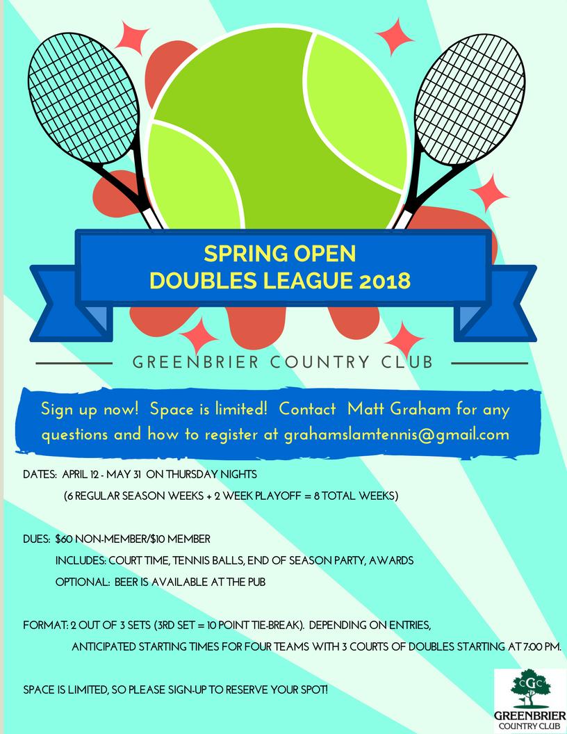 Spring Open Doubles League
